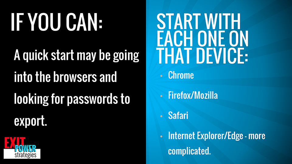 Exit Power Strategies - browsers may hold the keys
